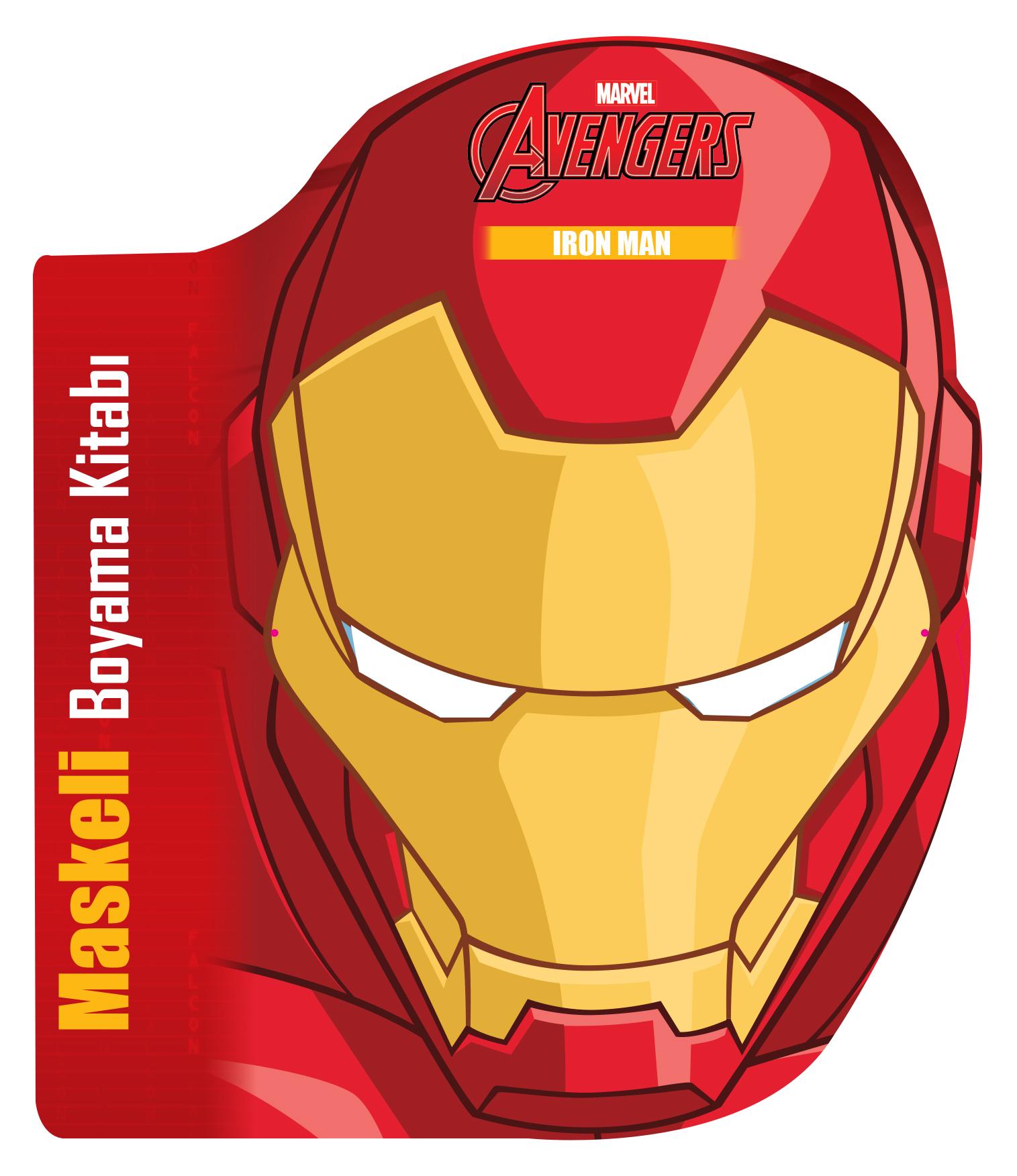 Avengers Iron Man Maskeli Boyama Kitabi Beta Cocuk