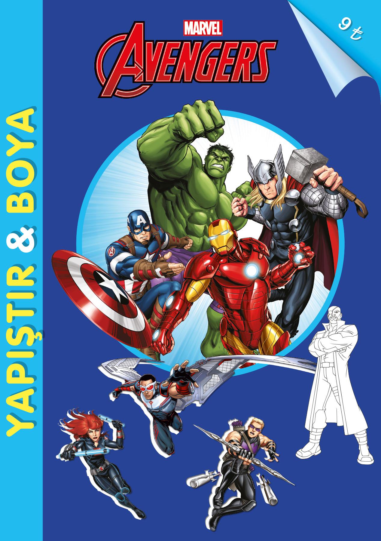 Thor Ile Süper Boyama çıkartma Beta çocuk